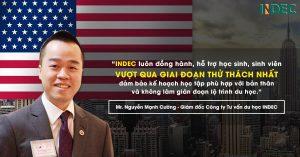 Tâm thư của Giám đốc INDEC dành riêng cho du học sinh Mỹ