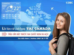 Khí hậu các tỉnh bang tại Canada - Điều cần biết trước khi quyết định du học