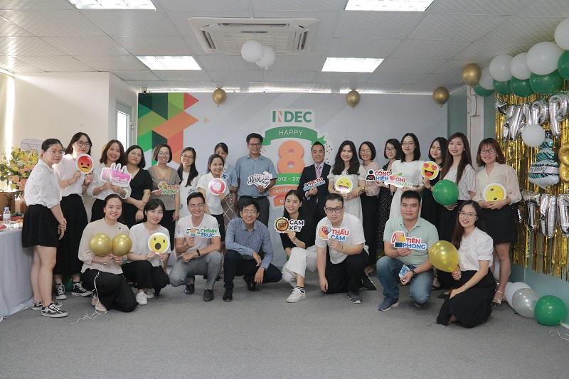 INDEC tròn 8 tuổi: Xin được gửi lời tri ân chân thành nhất tới quý đối tác, phụ huynh, học sinh và toàn thể nhân viên