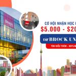 Học bổng hấp dẫn lên tới 350 triệu tại Brock University