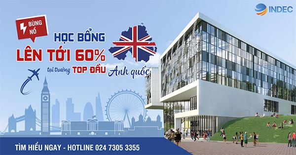 Đừng bỏ lỡ cơ hội học tập tại Đại học Huddersfield, Anh Quốc với học bổng hấp dẫn lên tới 60%